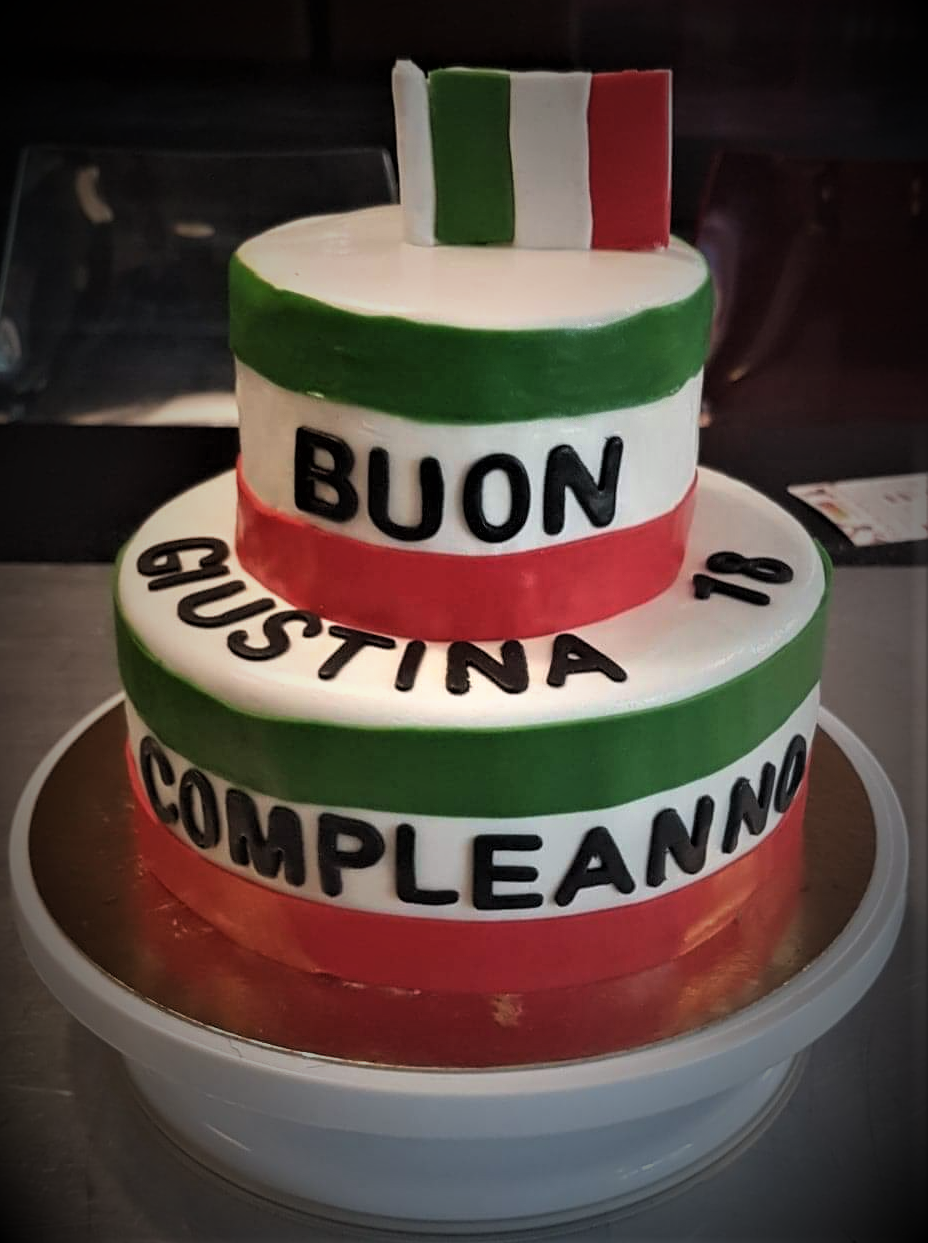 gateau drapeau italien