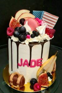 Molly cake nature, crème vanille & chocolat